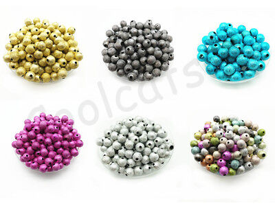 70 RAINBOW STARDUST ACRYLIC ROUND BEADS 6mm TOP QUALITY ACR25