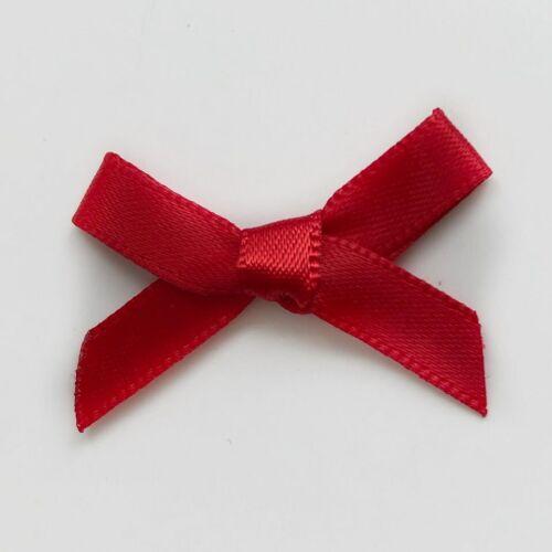 Petit Rouge Noël Ruban Satin Bow pré-attaché Craft Couture Scrapbooking saisonnier