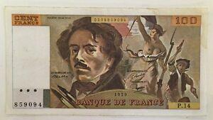 Billet-De-Banque-100-Francs-Delacroix-De-1979-P-14-Voir-Photos
