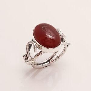 Ayat al-Kursi engraved 925 Sterling Silver natural Aqeeq Gemstone Mens Ring Gift
