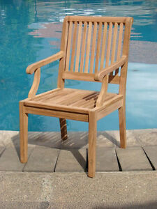 Sack Grade-A Teak Wood Dining Arm Chair Outdoor Garden Patio Furniture New