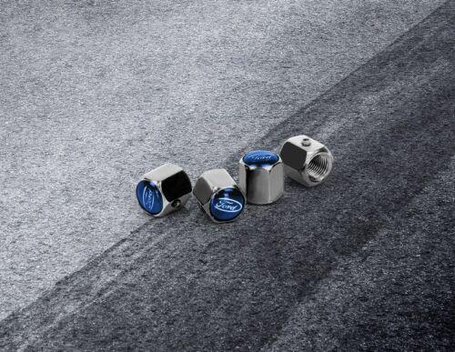 Original Ford Performance Ventilkappen Silber /& Blau 2308113