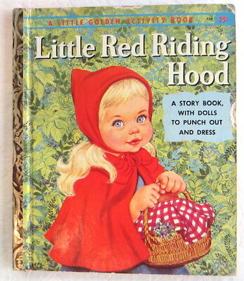 LITTLE RED RIDING HOOD Vintage Little Golden Activity Book First A Edition