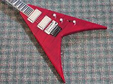 2013 Jackson USA Custom King V KV2 Flying V Guitar! Trans Red Flametop! w/OHSC