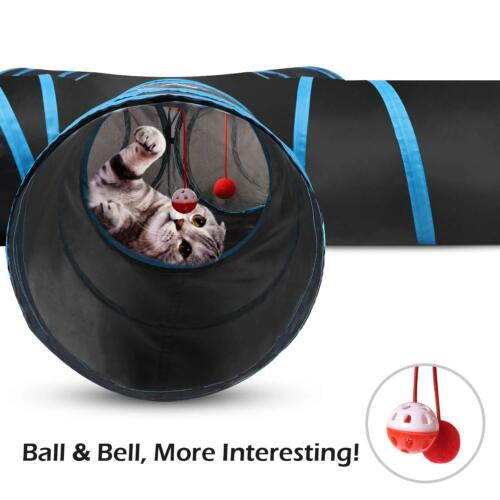 PAWABOO 5 Way Tunnels Extensible Collapsible Cat Playing Tube Toy Cat Maze House