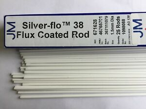 Silver solder Thessco M15T 45/%ag flux-coated 5 rods x 250mm 2.0mm BARGAIN!