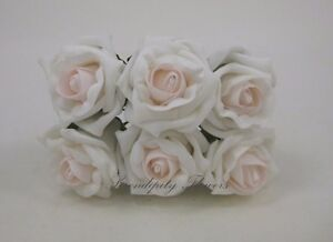 6cm Cottage Roses Blush Pink And White Colourfast Foam Wedding