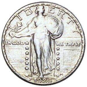 1926-S Standing Liberty Silver Quarter, Absolute Stunning 25c San Fran. Mint NR!