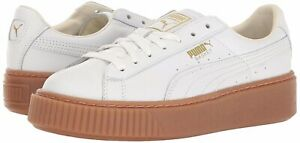 Details about New Women's PUMA Basket Platform Core Fashion Sneaker -  364040-01 White Gum