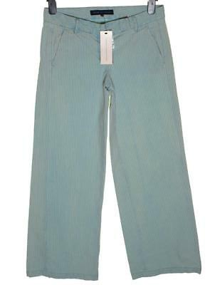 "SchöN New Women's French Connection Vintage Striped Trousers Jeans Rrp£65 L32"" Blue"