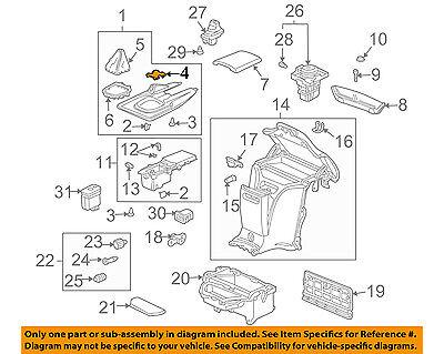 Honda Genuine 83403-S5A-A11ZB Center Console Cover Assembly