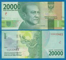 INDONESIA 20,000 20000 RUPIAH 2016 PRINT 2016 FIRST YEAR P 158 UNC LOT 5 PCS