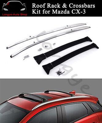 fits for mazda cx 3 cx3 2016 2020 roof rack rail carrier crossbar cross bar kit ebay