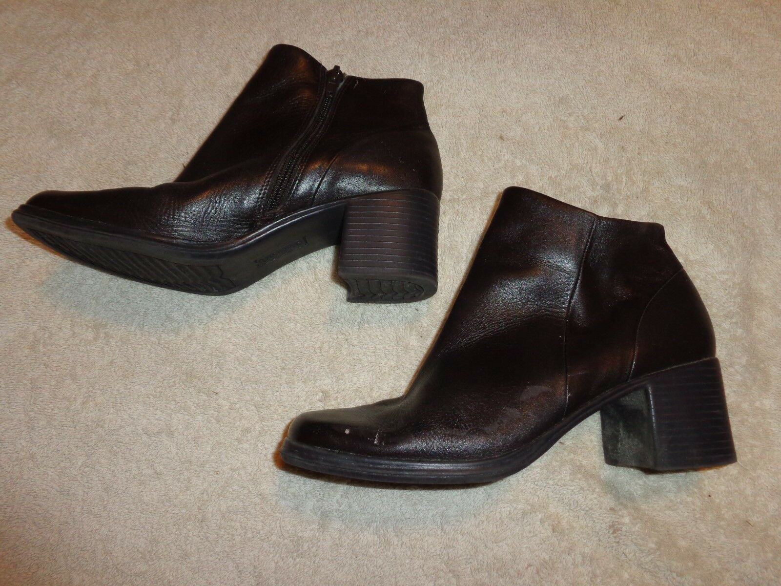CHADWICK'S WOMENS DARK BROWN ZIPPER BOOTS WOMENS CHADWICK'S SIZE 7 M      CHOCOLATE f198d6