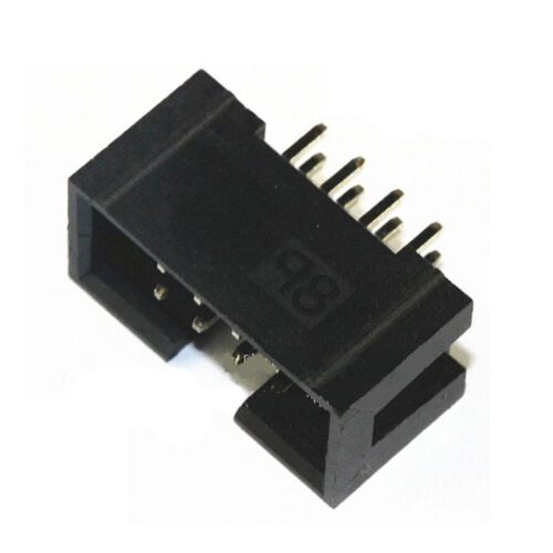 "10x 0.1/"" 2x4P 8P DC3 Straight Male enveloppées de PCB IDC Socket Box Header"