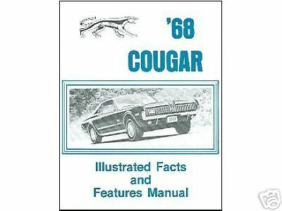 1968  68   MERCURY COUGAR FACTS /& FEATURE MANUAL