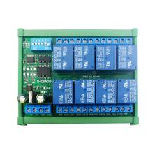 Dc12v 8 Channel Rs485 Relay Module Modbus Rtu Board Controller Din Rail Case