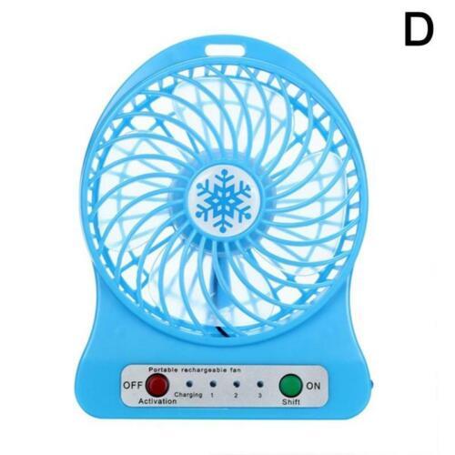 4.5W Portable Rechargeable 3series LED Light Air Cooler Fan Mini Desk USB Fan