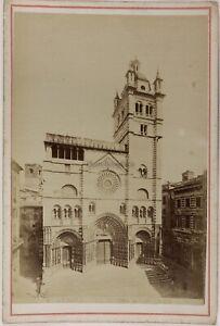 Genoa Duomo Italia Foto PL17c2n3 Cartolina Armadio Vintage Albumina