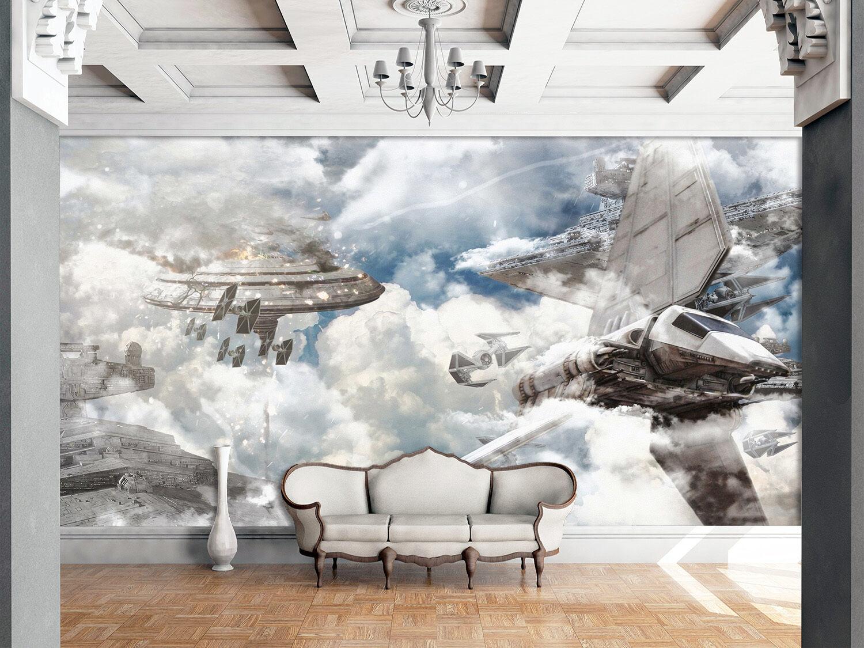 3D UFO Kämpfer 53 Fototapeten Wandbild Fototapete Bild Tapete Familie Kinder