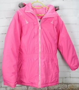 1feb9769 Image is loading Columbia-Winter-Coat-Hooded-Full-Zip-Youth-Girls-
