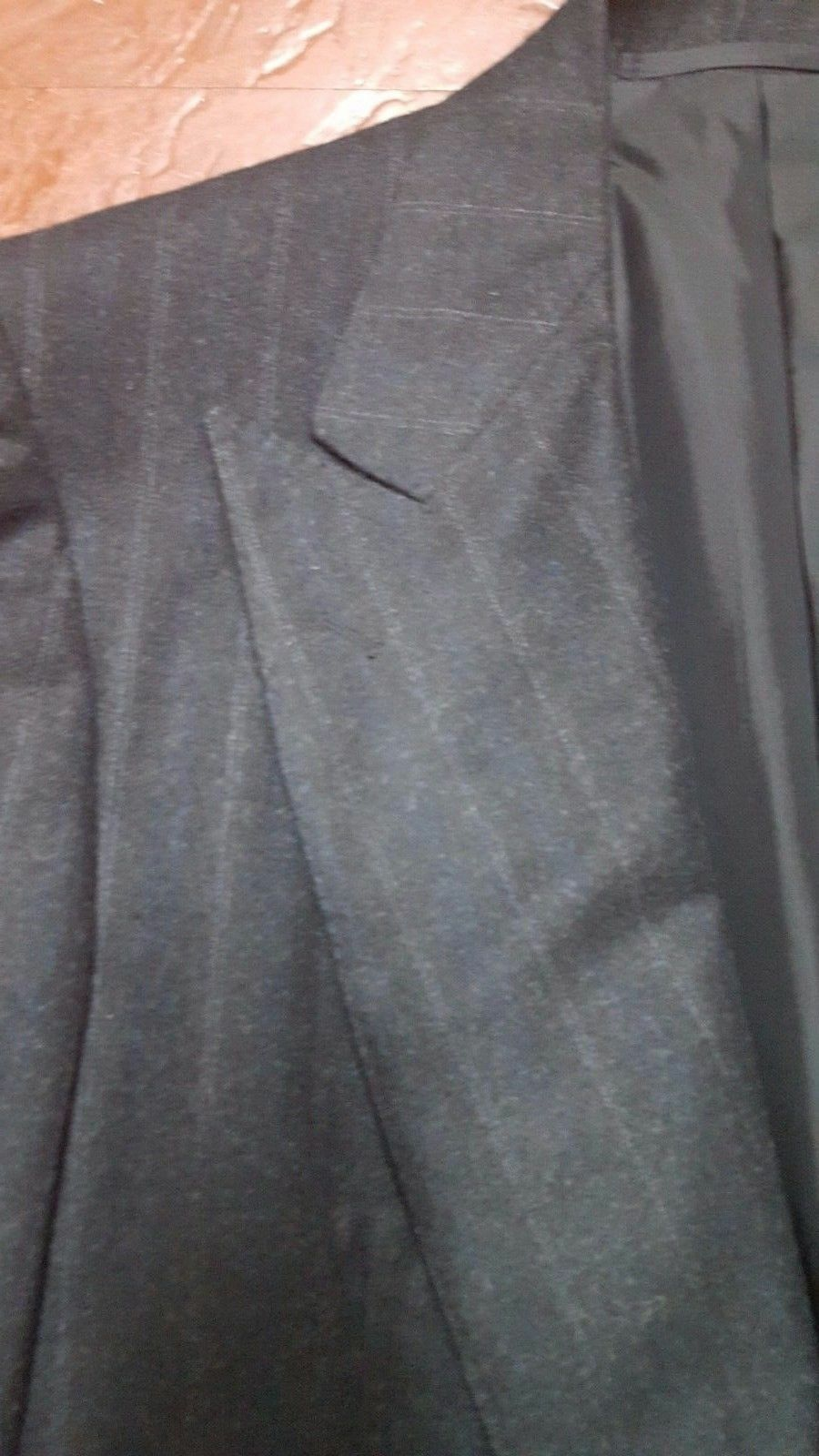 NWT  MP MASSIMO PIOMBO MADE BY KITON MOHAIR FLANNEL 40 SUIT STRIPED