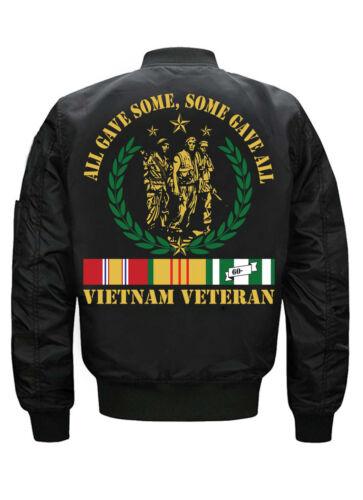 2020 New Vietnam Veteran Embroidered Men/'s Loose Casual Jacket coat US SIZE S-5x
