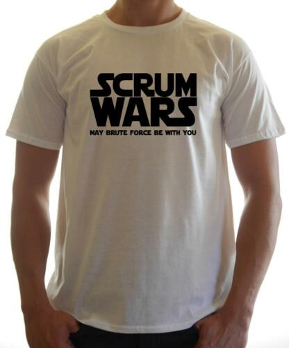 Novelty T-shirt Funny /' SCRUM WARS/' T-shirt Rugby Fan T-shirt Rugby Tee