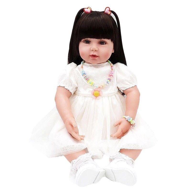 RINATO BABY GIRL doll vinile morbido silicone bambino realistici realistiche le bambole giocattoli
