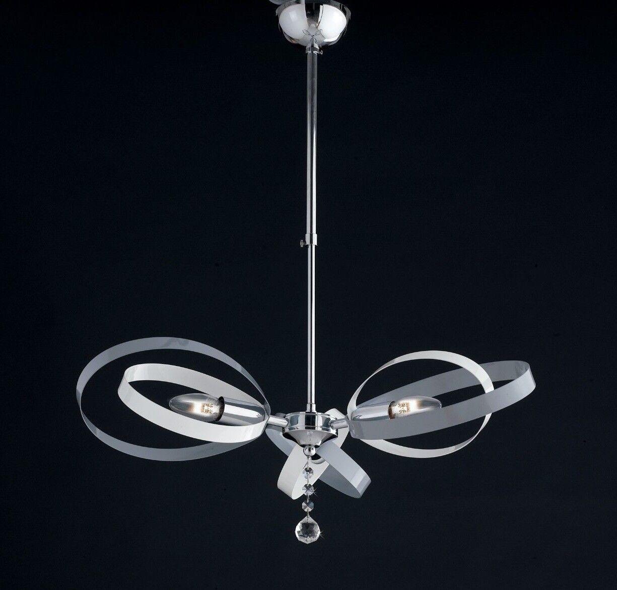Sospensione lampadario PIACERE moderno cromato colorato COLORI COMBINABILI A PIACERE lampadario c5c563