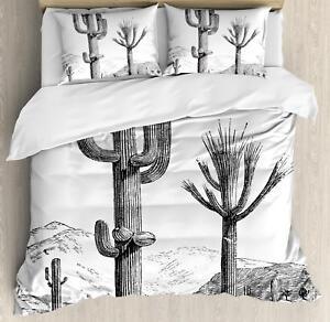 QUEEN KING Atacama Desert Cactus Digital Printed Quilt Doona Cover Set