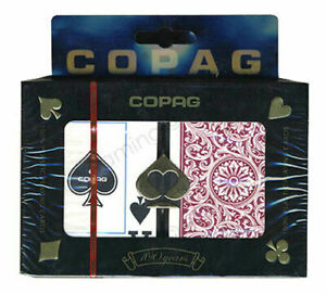 Copag Poker Size Jumbo Index 1546 Playing Cards Green Burgundy Setup