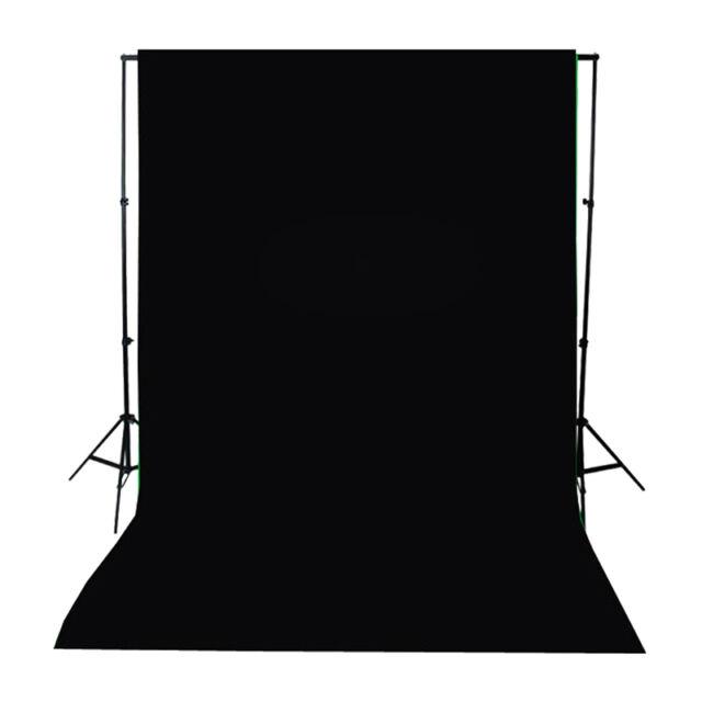 10 x 12 Black Screen Muslin Cotton Background Backdrop Photography Photo Studio