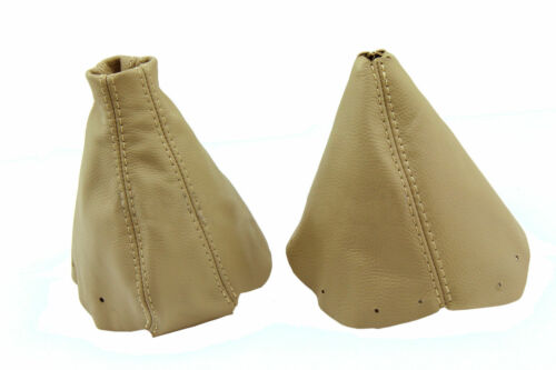 Beige Stitch Made for Nissan 300ZX 90-96 Autoguru Manual Shift Boot /& E-Brake Boot Set Synthetic Leather Black