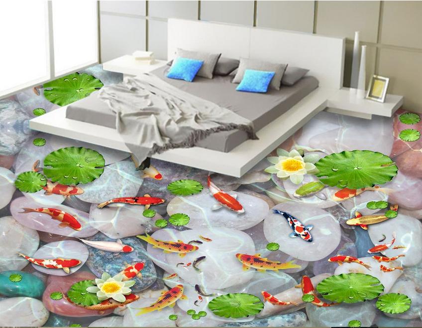 3D Karpfenteich 430 Fototapeten Wandbild Fototapete Tapete Familie DE DE DE Lemon 809832