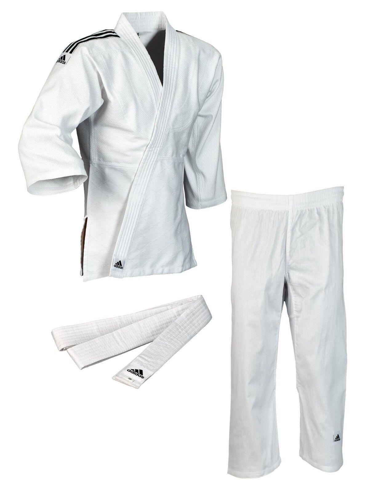 Adidas Judo-Anzug  Club  weiß schwarze Streifen J350 - Judoanzug - Judo Gi