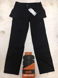 Nucleo-duro-resistente-comercio-grano-Pantalones-resistente-al-desgaste-Pantalones-De-Trabajo-Negro