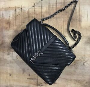 Authentic-YSL-college-Large-Bag-In-Leather