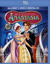 Anastasia (Blu-ray/DVD, 2015, 2-Disc Set)  w/Digital HD   Animated  Brand NEW