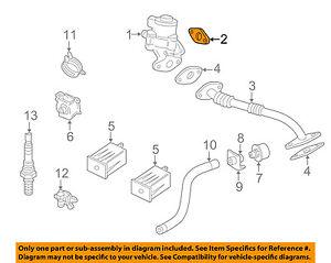 jaguar oem 01 09 xj8 egr valve gasket aj88560 ebay rh ebay com