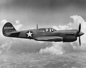 CURTISS-P-40-WARHAWK-AIRCRAFT-WWII-8x10-SILVER-HALIDE-PHOTO-PRINT
