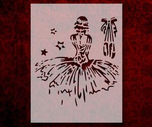 Ballerina Wall Decal - Girl Bedroom Decor - Dancing Wall ... |Pretty Girl Dance Stencil