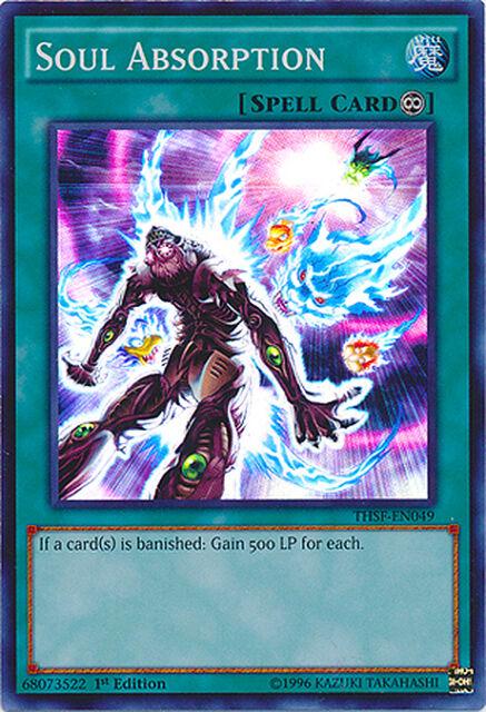 Soul Absorption Super Rare Holo Yugioh Card THSF-EN049