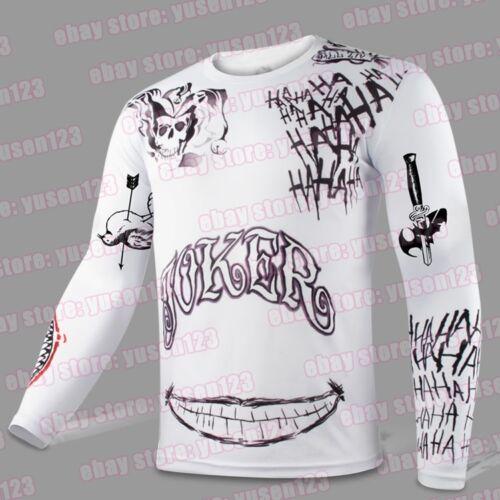 Jared Leto Joker Long Sleeves Tattoo T-shirt Halloween Cosplay Tee