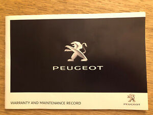 NEW-PEUGEOT-SERVICE-HISTORY-AND-MAINTENANCE-RECORD-BOOK-GENUINE-NEW
