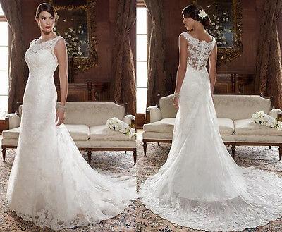 New 2014 White/Ivory Wedding Dress Custom Size 4 6 8 10 12 14 16 18 +++