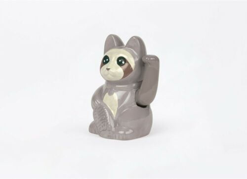 DOIY DESIGN batteriebetrieben SLOTH CAT Winkekatze Glückskatze Lucky Cat 16 cm
