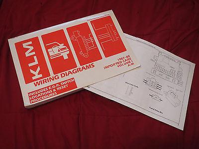 1987 1988 SUBARU JUSTY WIRING DIAGRAMS MANUAL SHEETS SET | eBay subaru wiring harness diagram eBay