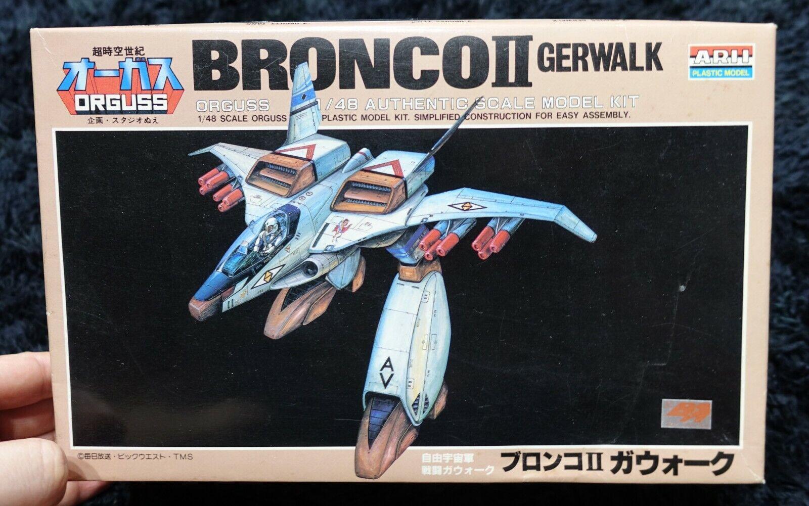 Super Dimension Century Orguss BRONCO II GERWALK  1 48 ARII MODEL KIT
