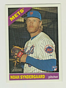 2015-Topps-Heritage-HIGH-NUMBER-SERIES-618-NOAH-SYNDERGAARD-RC-Rookie-Mets